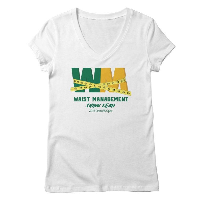 Waist Management (CFD Intramurals 2019) Women's Regular V-Neck by CrossFit Durham
