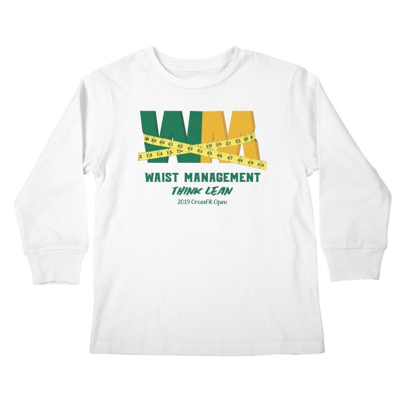 Waist Management (CFD Intramurals 2019) Kids Longsleeve T-Shirt by CrossFit Durham