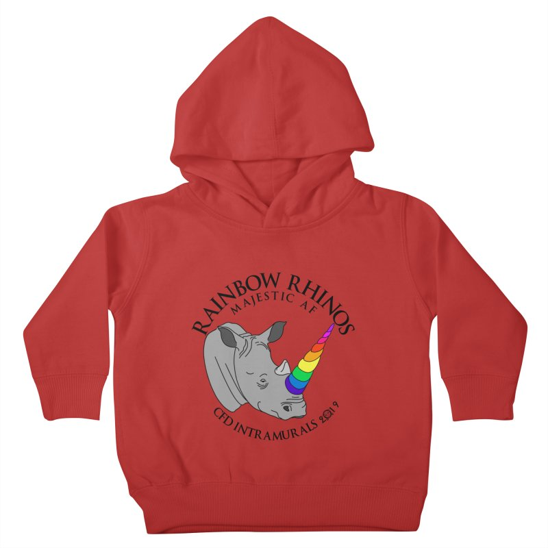Rainbow Rhinos 1 (CFD Intramurals 2019) Kids Toddler Pullover Hoody by CrossFit Durham