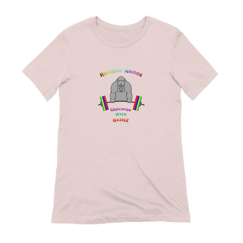 Rainbow Rhinos 2 (CFD Intramurals 2019) Women's Extra Soft T-Shirt by CrossFit Durham