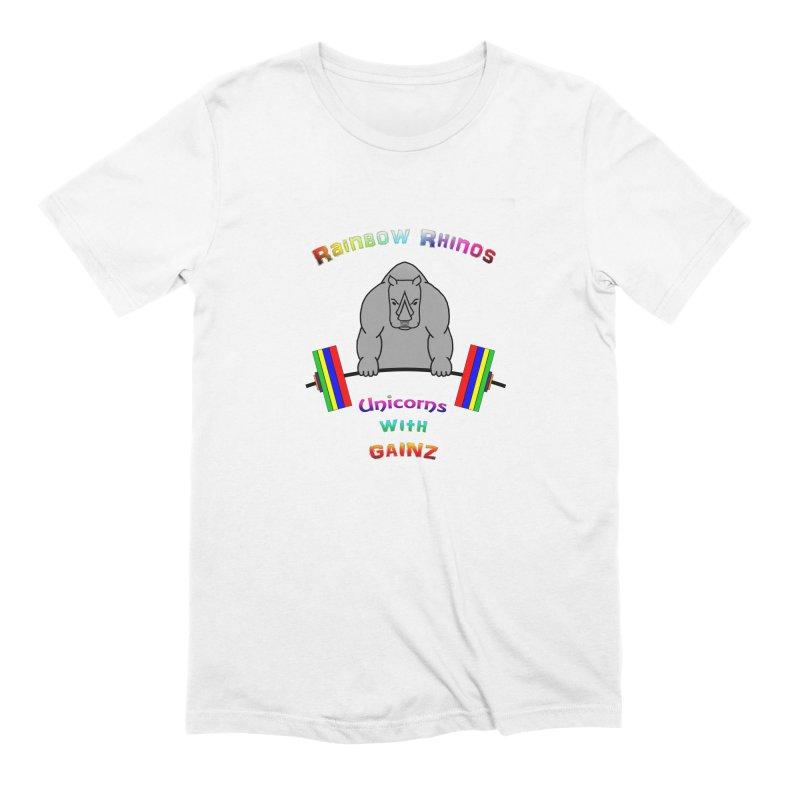 Rainbow Rhinos 2 (CFD Intramurals 2019) Men's Extra Soft T-Shirt by CrossFit Durham