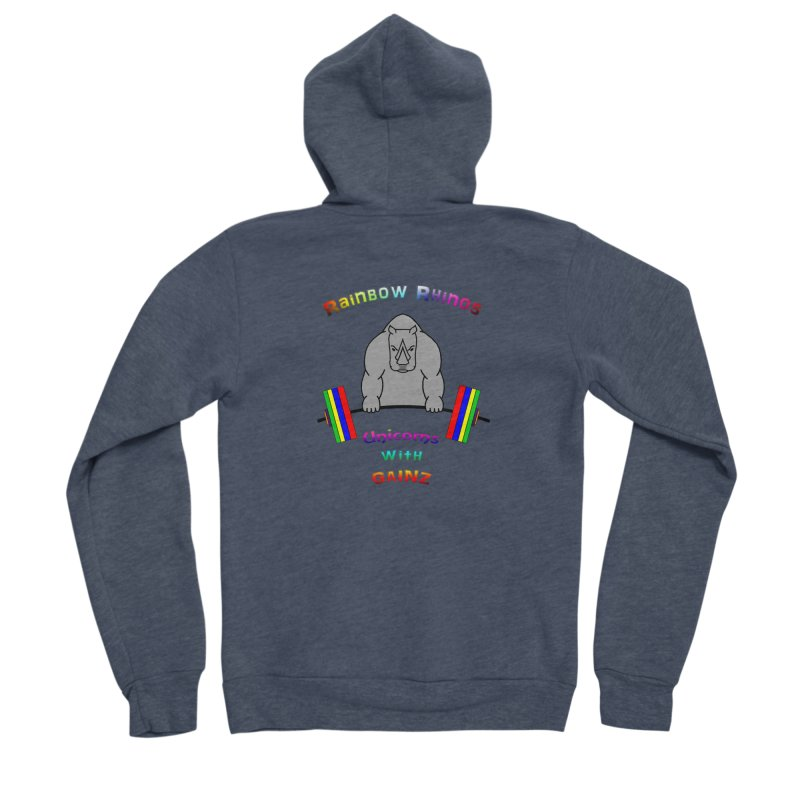 Rainbow Rhinos 2 (CFD Intramurals 2019) Women's Sponge Fleece Zip-Up Hoody by CrossFit Durham