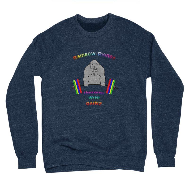 Rainbow Rhinos 2 (CFD Intramurals 2019) Men's Sponge Fleece Sweatshirt by CrossFit Durham