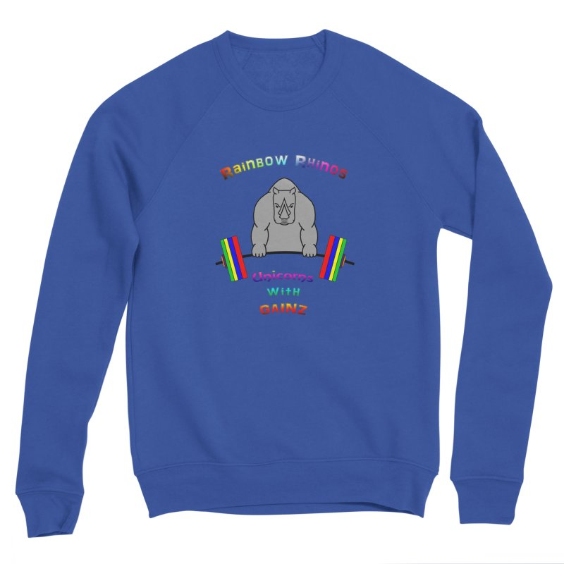 Rainbow Rhinos 2 (CFD Intramurals 2019) Men's Sponge Fleece Sweatshirt by CrossFit Durham
