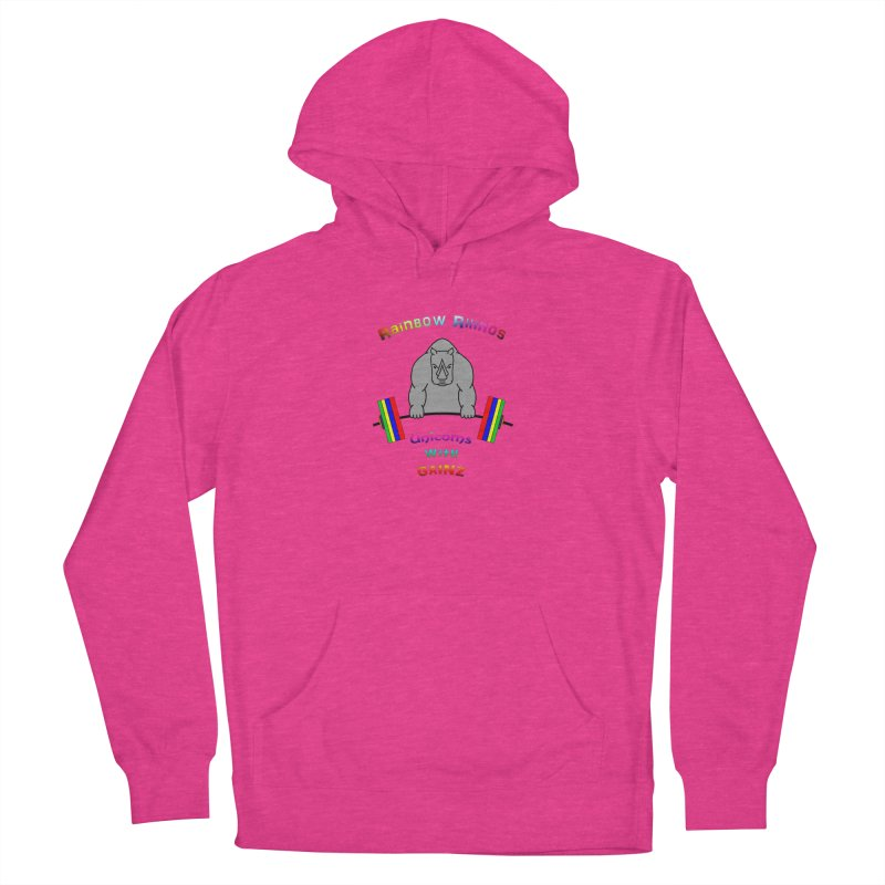Rainbow Rhinos 2 (CFD Intramurals 2019) Men's French Terry Pullover Hoody by CrossFit Durham