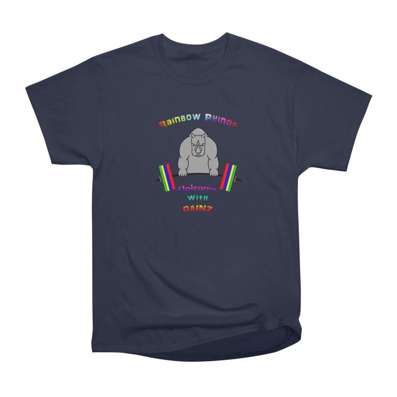 Rainbow Rhinos 2 (CFD Intramurals 2019) Men's Heavyweight T-Shirt by CrossFit Durham