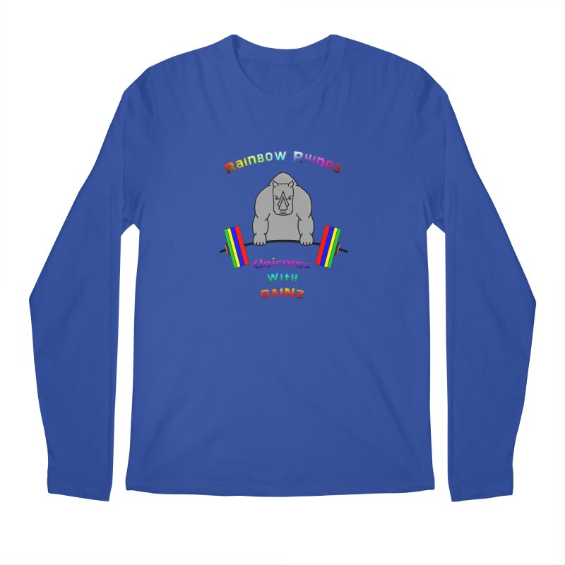 Rainbow Rhinos 2 (CFD Intramurals 2019) Men's Regular Longsleeve T-Shirt by CrossFit Durham