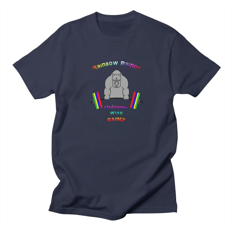 Rainbow Rhinos 2 (CFD Intramurals 2019) Men's Regular T-Shirt by CrossFit Durham
