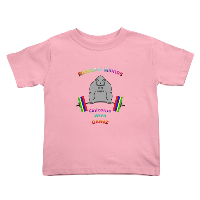 Rainbow Rhinos 2 (CFD Intramurals 2019) Kids Toddler T-Shirt by CrossFit Durham