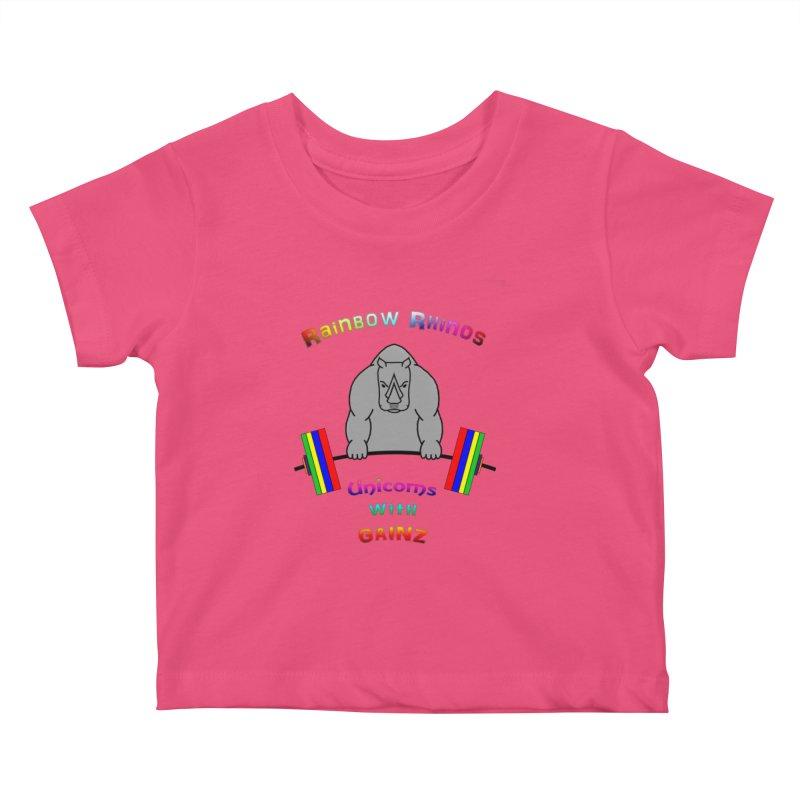 Rainbow Rhinos 2 (CFD Intramurals 2019) Kids Baby T-Shirt by CrossFit Durham