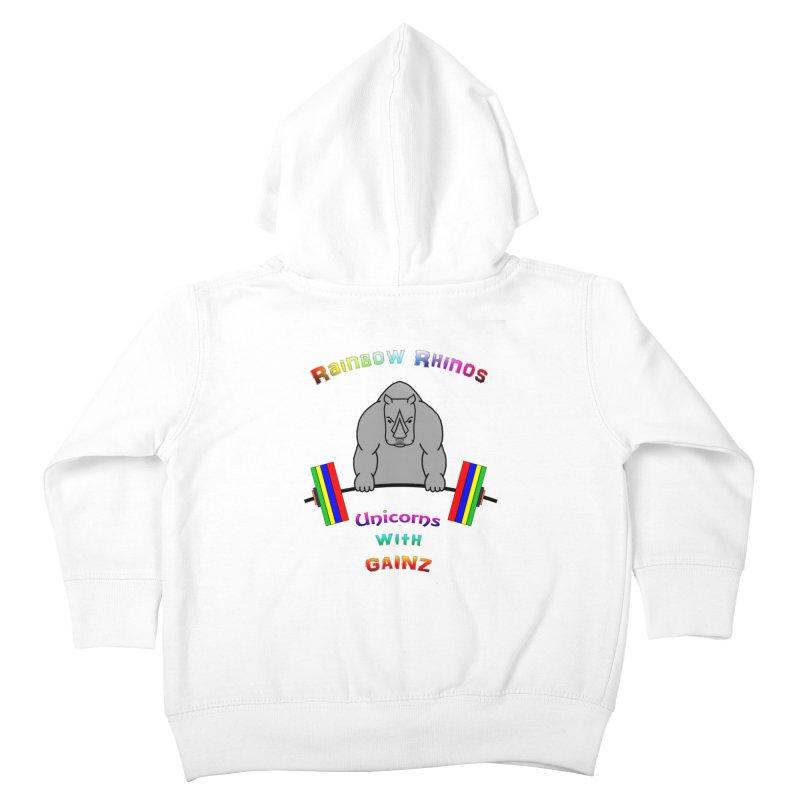 Rainbow Rhinos 2 (CFD Intramurals 2019) Kids Toddler Zip-Up Hoody by CrossFit Durham