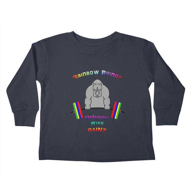 Rainbow Rhinos 2 (CFD Intramurals 2019) Kids Toddler Longsleeve T-Shirt by CrossFit Durham