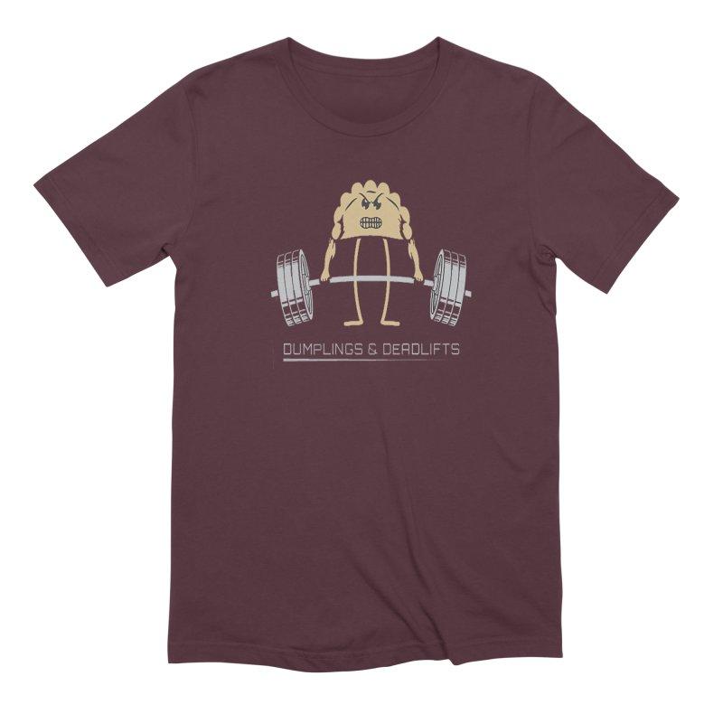 Dumplings and Deadlifts (CFD Intramurals 2019) Men's Extra Soft T-Shirt by CrossFit Durham