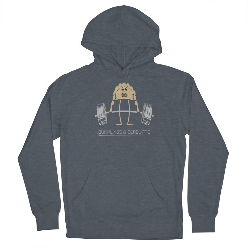 Dumplings and Deadlifts (CFD Intramurals 2019) Men's French Terry Pullover Hoody by CrossFit Durham