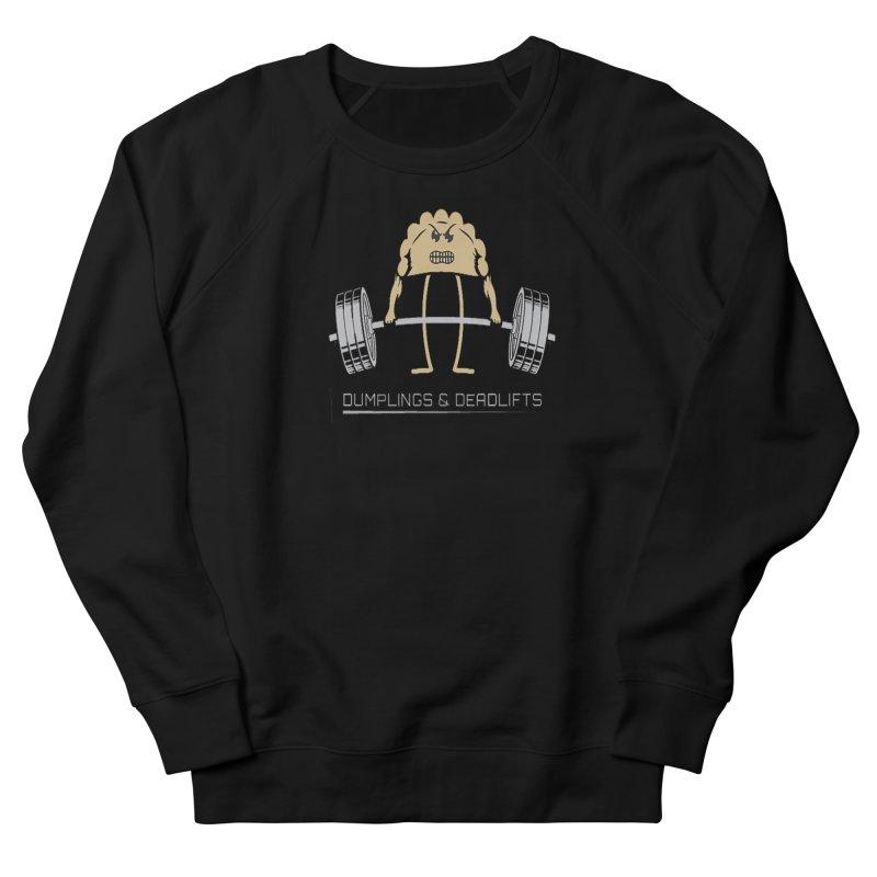 Dumplings and Deadlifts (CFD Intramurals 2019) Men's French Terry Sweatshirt by CrossFit Durham