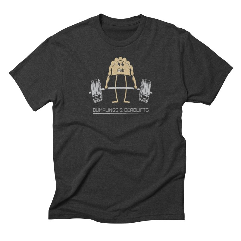 Dumplings and Deadlifts (CFD Intramurals 2019) Men's Triblend T-Shirt by CrossFit Durham