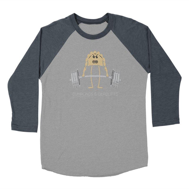 Dumplings and Deadlifts (CFD Intramurals 2019) Men's Baseball Triblend Longsleeve T-Shirt by CrossFit Durham