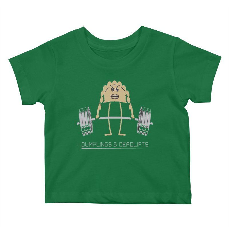 Dumplings and Deadlifts (CFD Intramurals 2019) Kids Baby T-Shirt by CrossFit Durham
