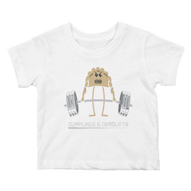 Dumplings and Deadlifts (CFD Intramurals 2019) Kids Baby T-Shirt by CrossFit Durham
