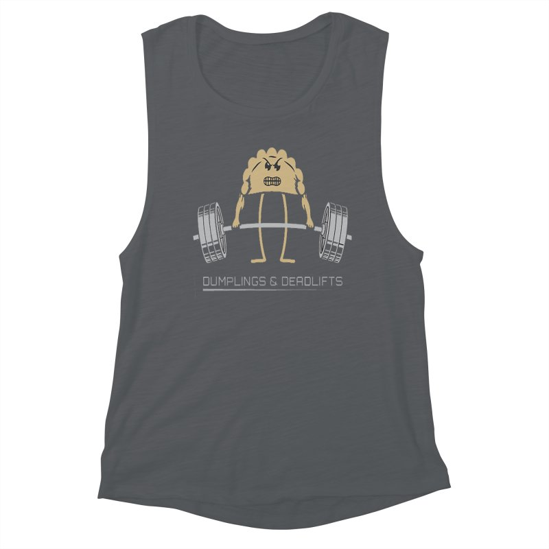 Dumplings and Deadlifts (CFD Intramurals 2019) Women's Muscle Tank by CrossFit Durham