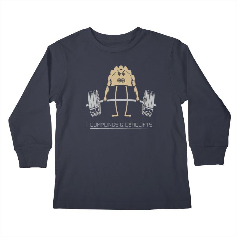 Dumplings and Deadlifts (CFD Intramurals 2019) Kids Longsleeve T-Shirt by CrossFit Durham