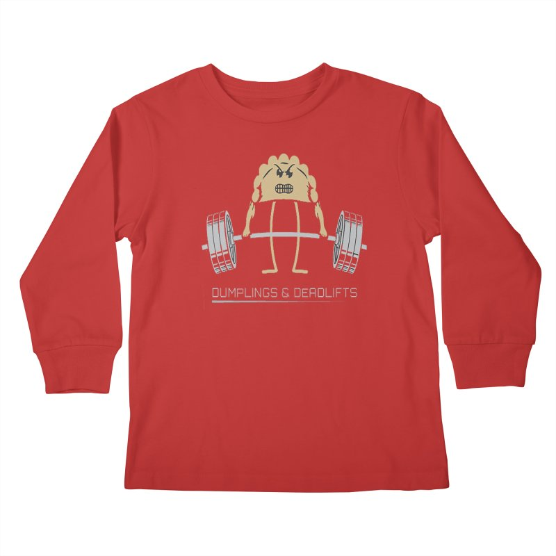 Dumplings and Deadlifts (CFD Intramurals 2019) Kids Longsleeve T-Shirt by CrossFit Durham