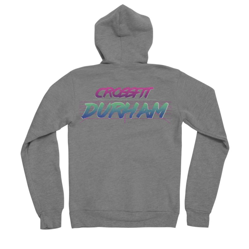 80's Neon Women's Sponge Fleece Zip-Up Hoody by CrossFit Durham