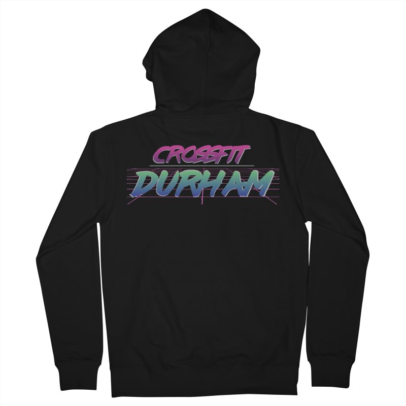 80's Neon Women's French Terry Zip-Up Hoody by CrossFit Durham