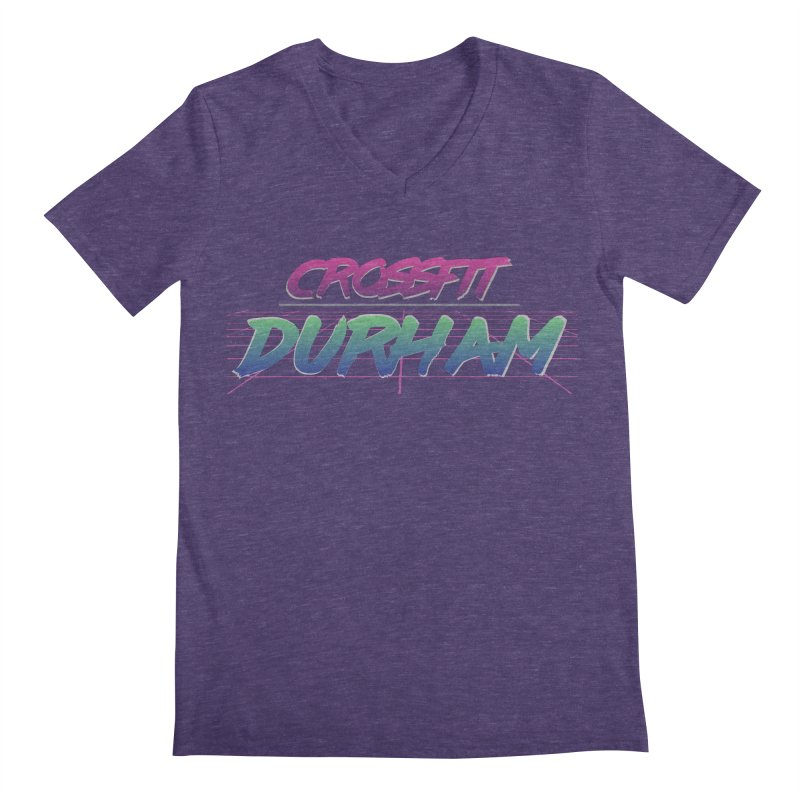 80's Neon Men's Regular V-Neck by CrossFit Durham