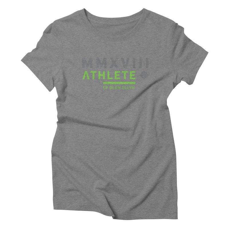 """2018 Open Shirt: """"MMXVIII"""" Women's Triblend T-Shirt by CrossFit Glen Ellyn"""