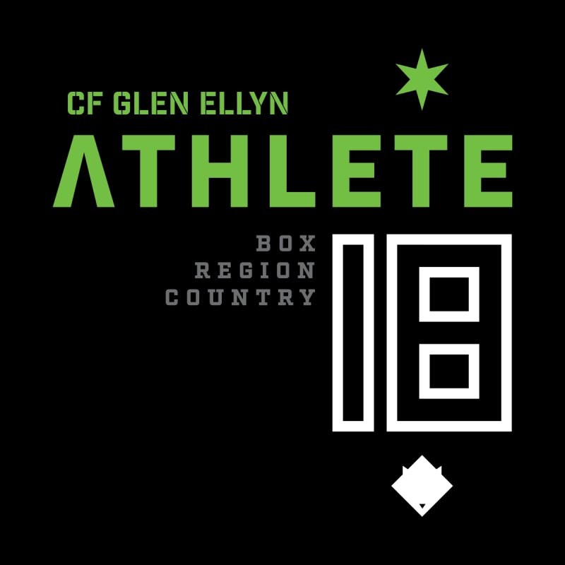 "2018 Open Shirt: ""Athlete 18"" by CrossFit Glen Ellyn"