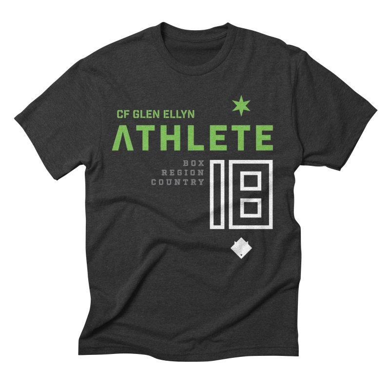 """2018 Open Shirt: """"Athlete 18"""" in Men's Triblend T-Shirt Heather Onyx by CrossFit Glen Ellyn"""