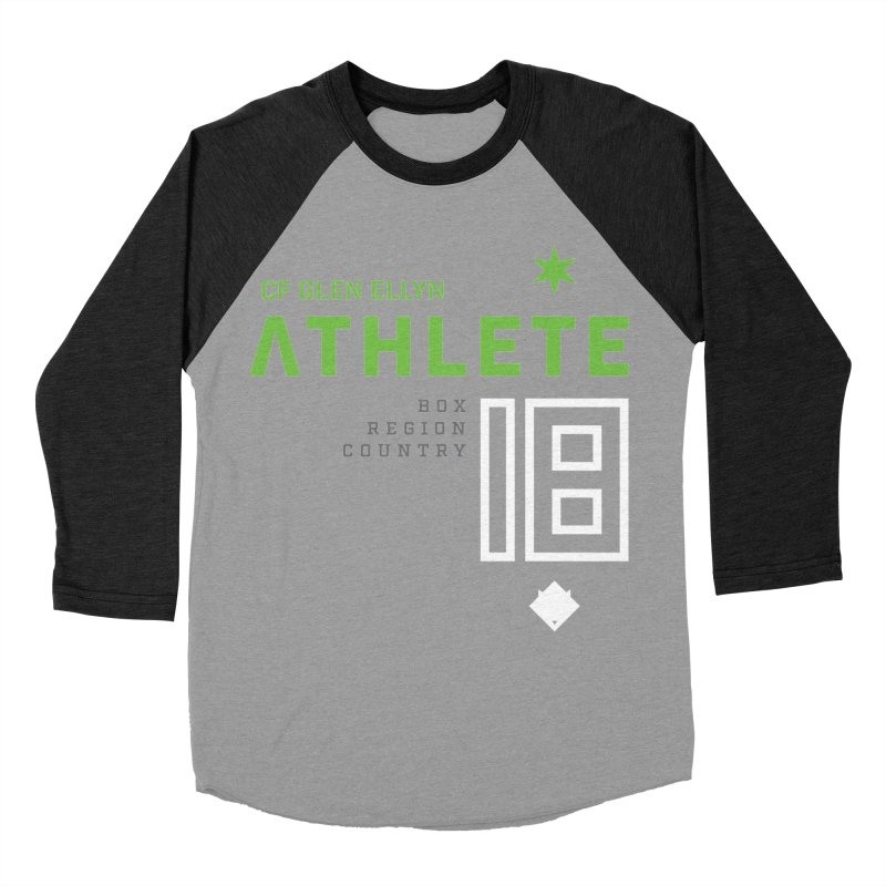 """2018 Open Shirt: """"Athlete 18"""" in Men's Baseball Triblend Longsleeve T-Shirt Heather Onyx Sleeves by CrossFit Glen Ellyn"""