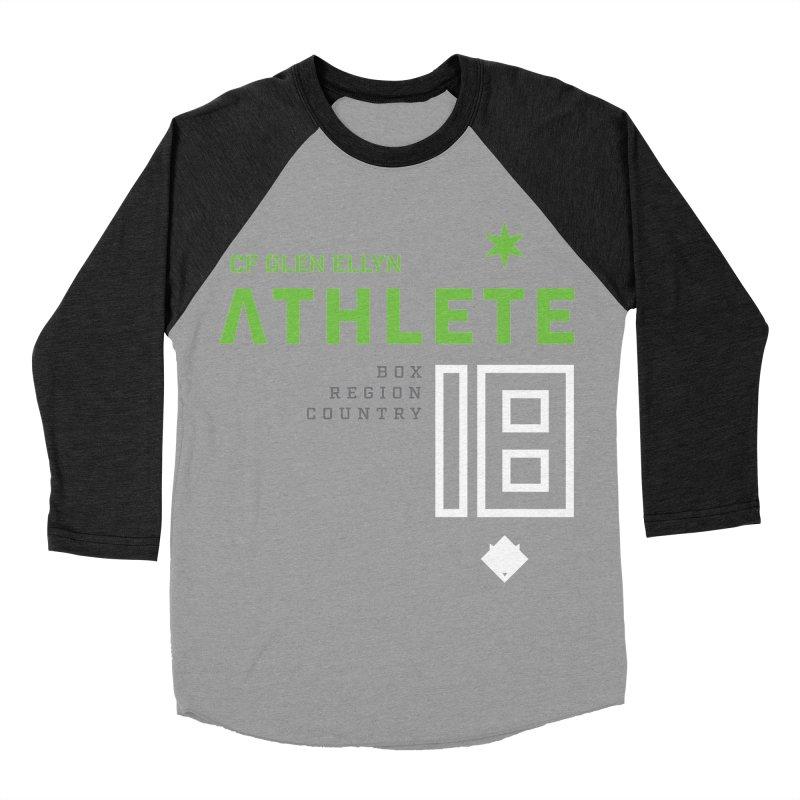 """2018 Open Shirt: """"Athlete 18"""" Women's Baseball Triblend Longsleeve T-Shirt by CrossFit Glen Ellyn"""