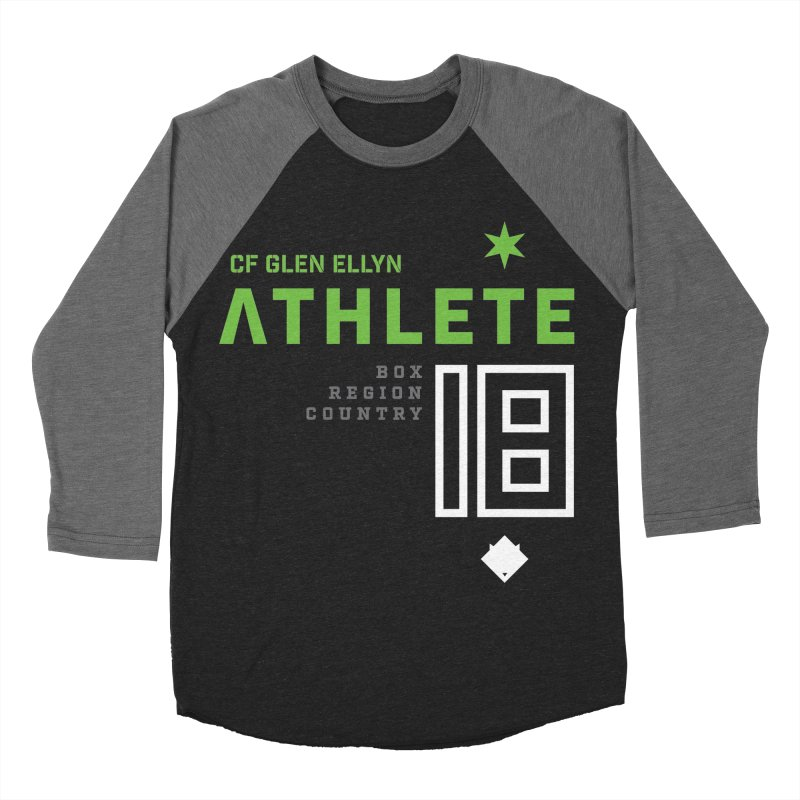 """2018 Open Shirt: """"Athlete 18"""" Men's Baseball Triblend Longsleeve T-Shirt by CrossFit Glen Ellyn"""
