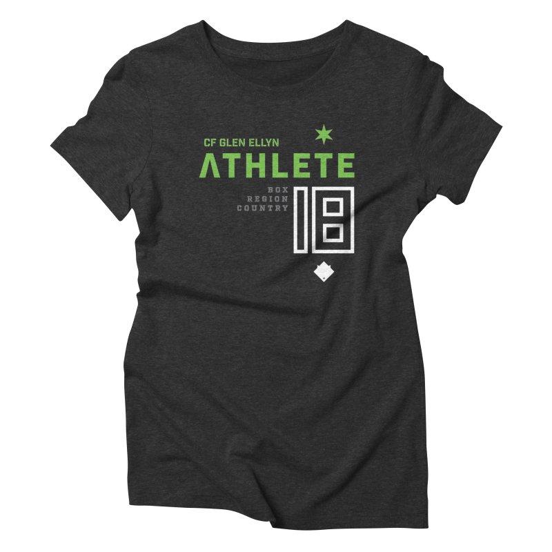 """2018 Open Shirt: """"Athlete 18"""" in Women's Triblend T-Shirt Heather Onyx by CrossFit Glen Ellyn"""