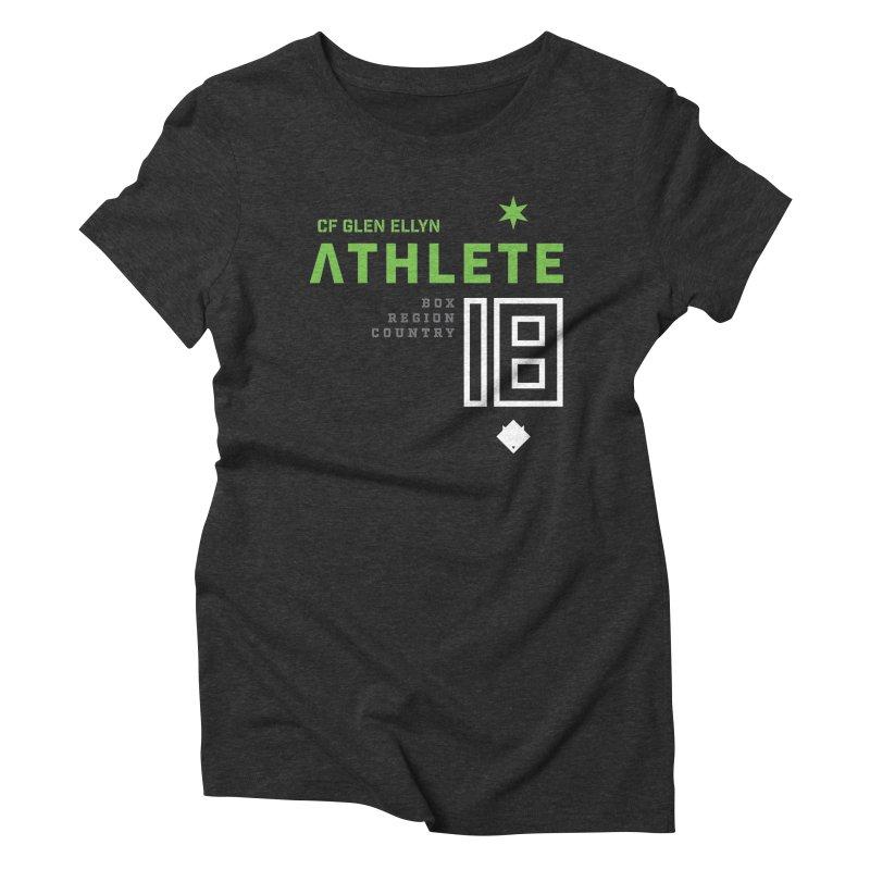 """2018 Open Shirt: """"Athlete 18"""" Women's Triblend T-Shirt by CrossFit Glen Ellyn"""