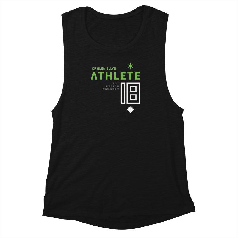 """2018 Open Shirt: """"Athlete 18"""" in Women's Muscle Tank Black Slub by CrossFit Glen Ellyn"""