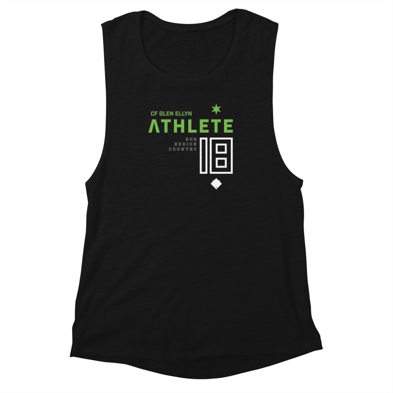 """2018 Open Shirt: """"Athlete 18"""" Women's Muscle Tank by CrossFit Glen Ellyn"""