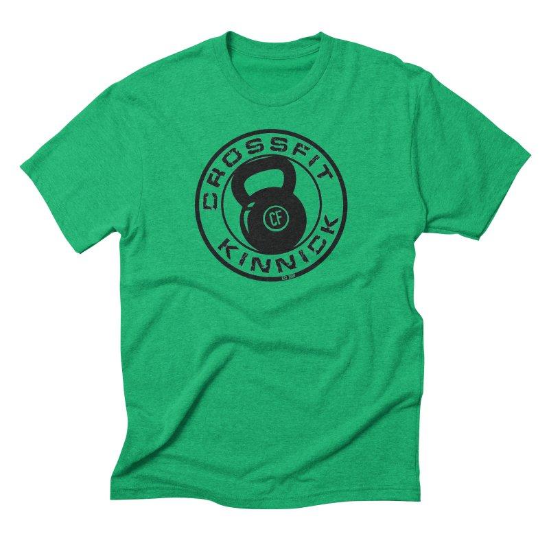 CrossFit Kinnick Kettlebell in Men's Triblend T-Shirt Tri-Kelly by CrossFit Kinnick Apparel