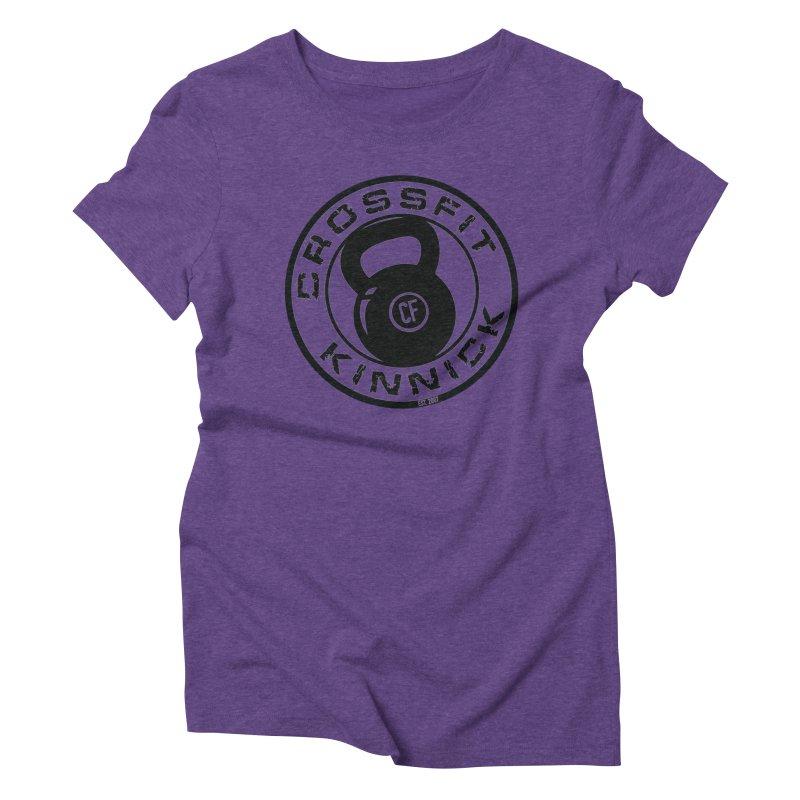 CrossFit Kinnick Kettlebell in Women's Triblend T-Shirt Tri-Purple by CrossFit Kinnick Apparel
