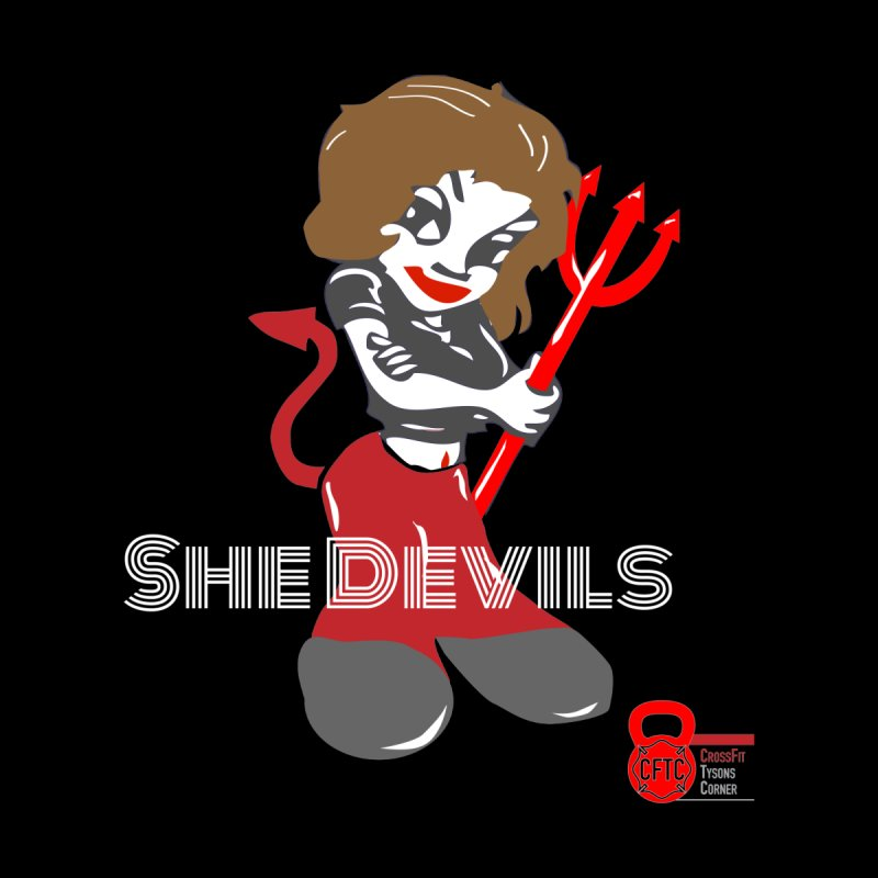 She Devil - Black Background by CrossFit Tysons Corner Apparel