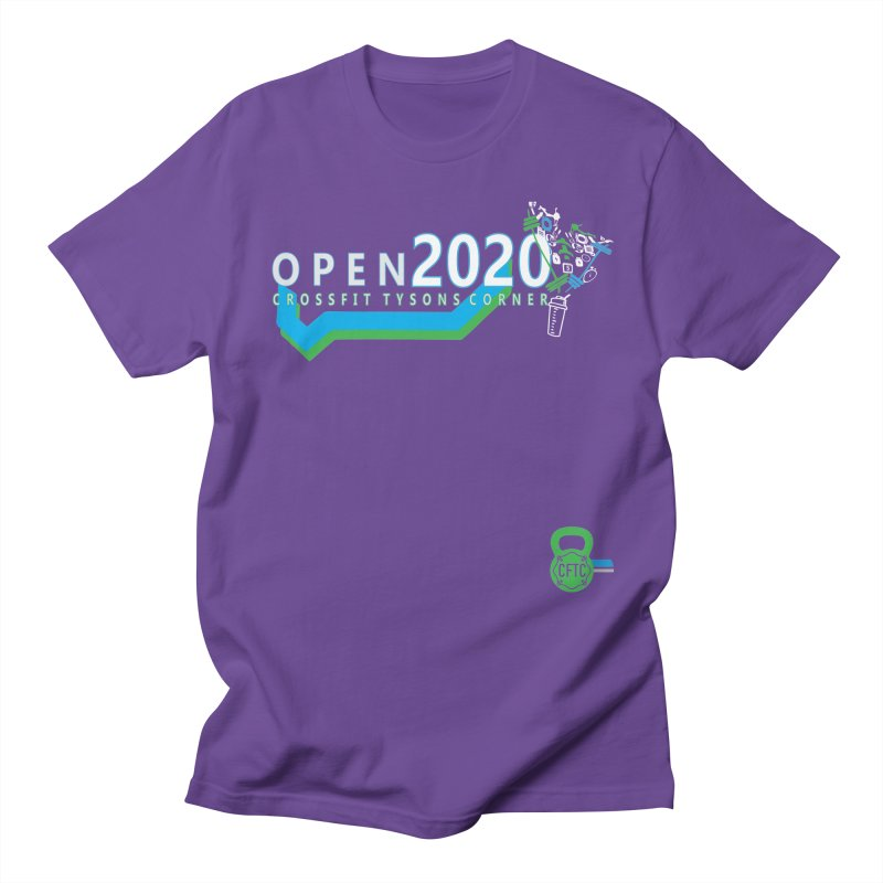 CrossFit Open 2020 in Men's Regular T-Shirt Purple by CrossFit Tysons Corner Apparel