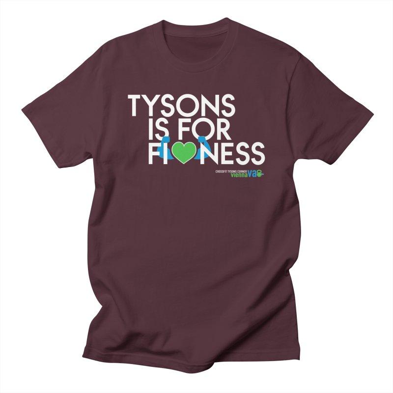 Tysons VA is for Fitness in Men's Regular T-Shirt Maroon by CrossFit Tysons Corner Apparel