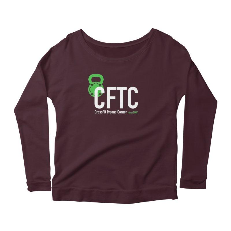 CFTC Basic in Women's Scoop Neck Longsleeve T-Shirt Dark Purple by CrossFit Tysons Corner Apparel