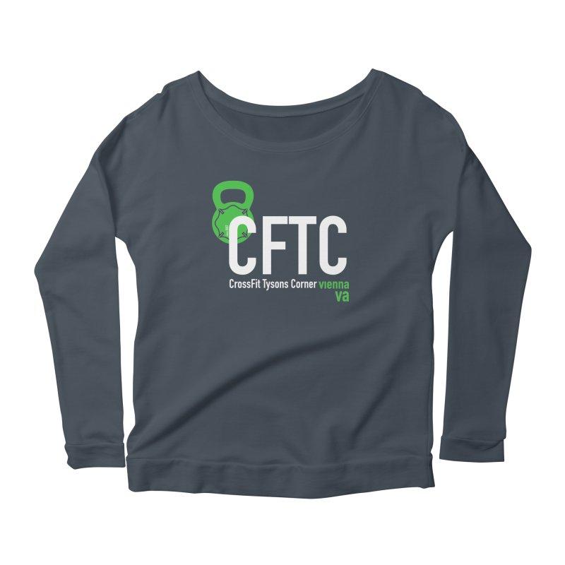 CFTC Basic in Women's Scoop Neck Longsleeve T-Shirt Denim by CrossFit Tysons Corner Apparel