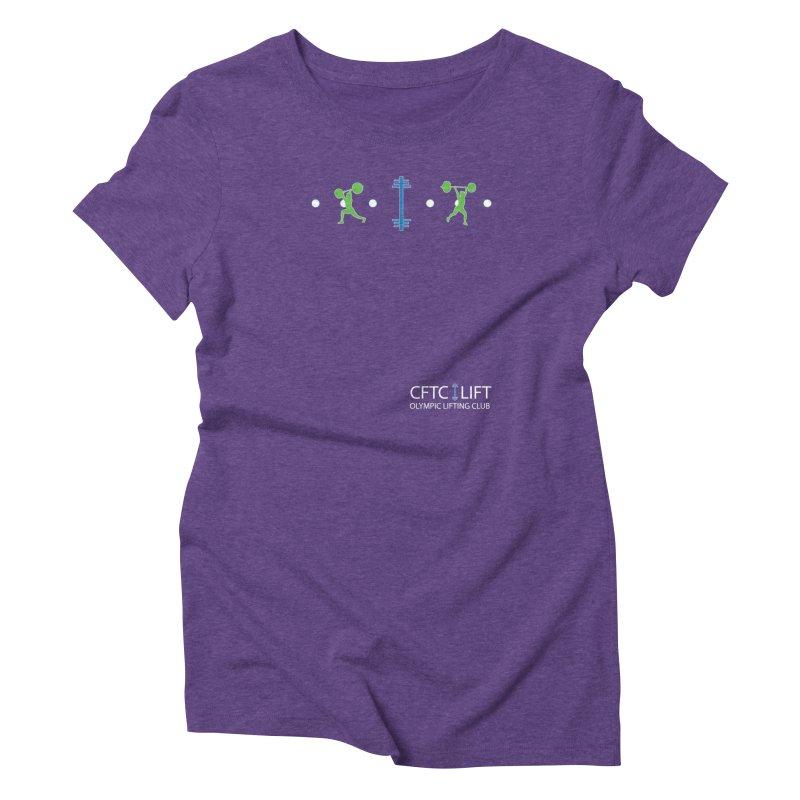 CFTC LIFT T-Shirt in Women's Triblend T-Shirt Tri-Purple by CrossFit Tysons Corner Apparel