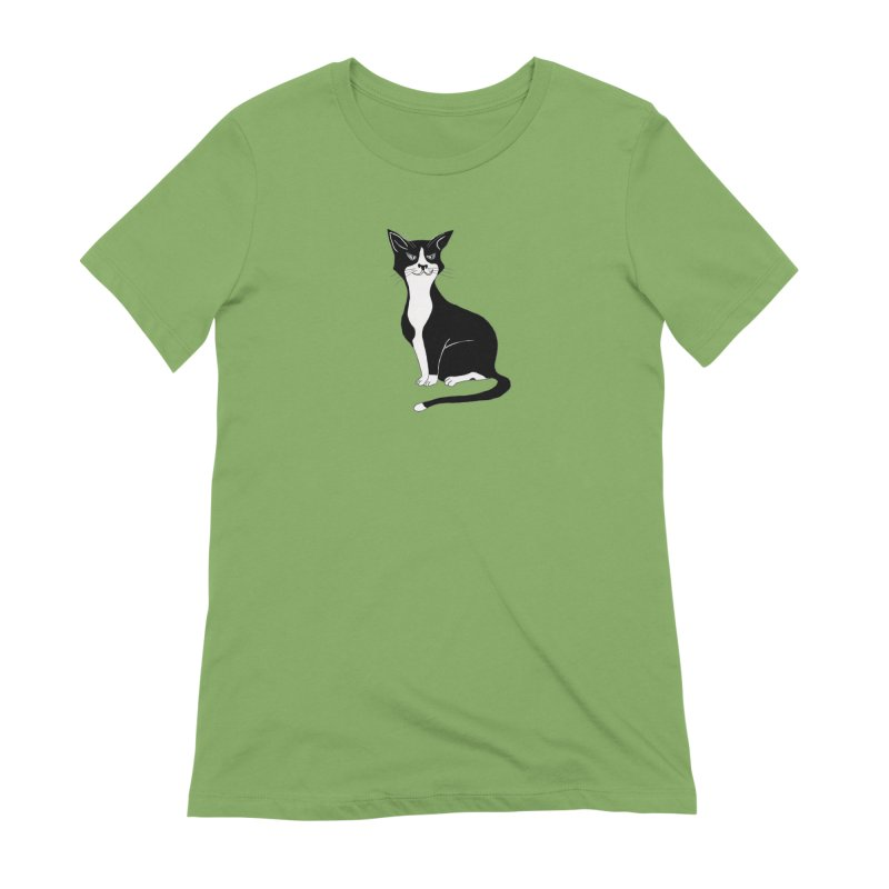 Tuxedo Cat Women's T-Shirt by CrowActive