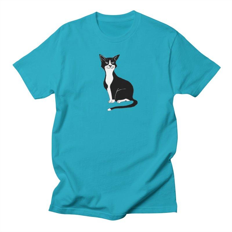 Tuxedo Cat Women's Regular Unisex T-Shirt by CrowActive
