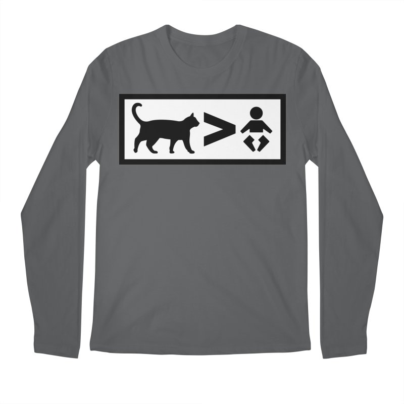Cats Greater Than Men's Longsleeve T-Shirt by CrowActive